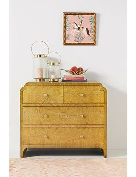 Hand Embossed Lotus Four Drawer Dresser by Anthropologie