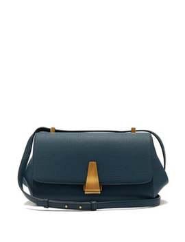 Bv Angle Grained Leather Shoulder Bag by Bottega Veneta