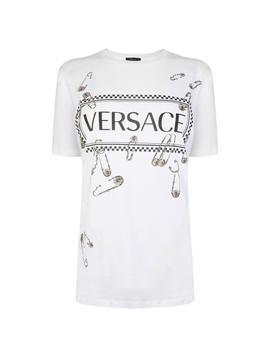 Pin Printed T Shirt by Versace