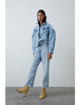 Denim Jacket With Full Sleeves Jacketstrf by Zara