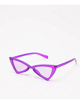 Empyre Transluscent Purple Bowtie Sunglasses by Empyre