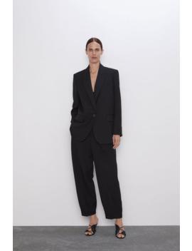 Oversized Single Button Blazerblazers Woman by Zara