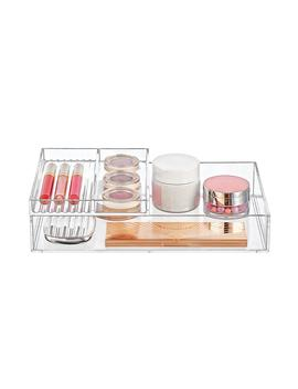 Clear Acrylic Trays Makeup Storage Kit by Container Store