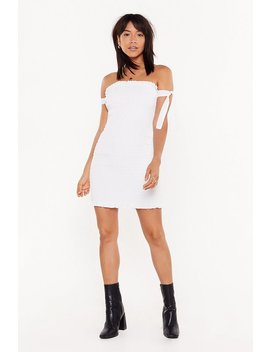 Tough To Tie Down Ruched Mini Dress by Nasty Gal