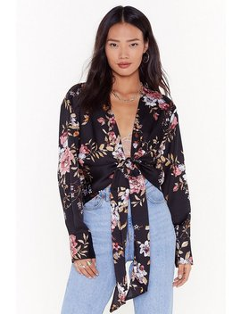 No Ifs Or Buds Floral Satin Blouse by Nasty Gal