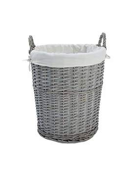 Holkham Grey Large Basket by Dunelm