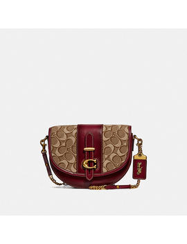 Saddle 20 In Signature Jacquard by Coach