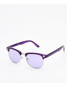 Empyre Lyla Fashion Purple & Silver Transparent Sunglasses by Empyre