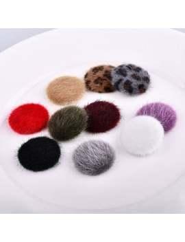 10pcs   Semi Circle Fur Beads, Fur Pom Pom, Furry Pom Pom, Small Fur Beads, Pom Pom, Fur Button, Faux Racoon Fur Pom Pom by Etsy