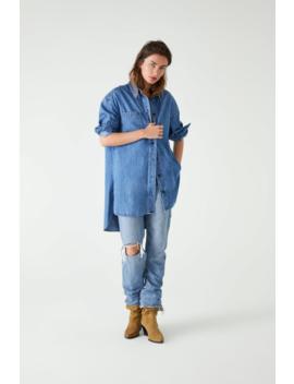Camisa Comprida De Ganga Ver Tudo Camisas E Blusas Mulher by Zara