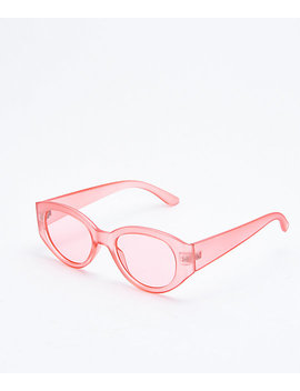 Insight Clear Pink Transparent Sunglasses by I Sea