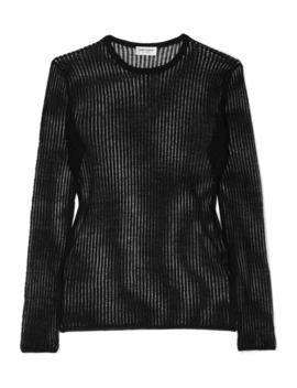 Ribbed Linen And Silk Blend Top by Saint Laurent