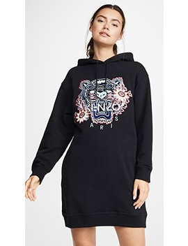 Passion Flower Tiger Sweatshirt Dress by Kenzo