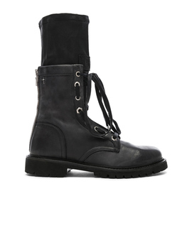 Leather Combat Boots by Rt A