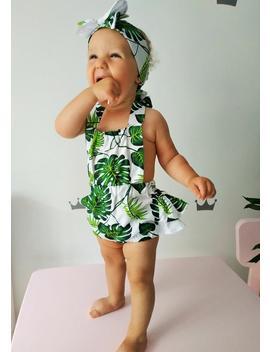Summer Girl Dress Tropical Baby Romper Hawaiian Summer Dress Tropical Dress by Etsy