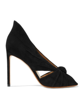 Knotted Suede Pumps by Francesco Russo