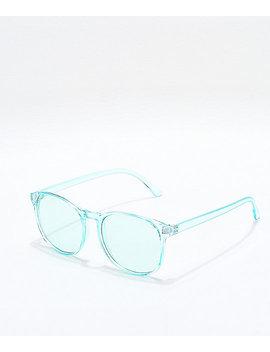 Urban Turquoise Transparent Sunglasses by I Sea