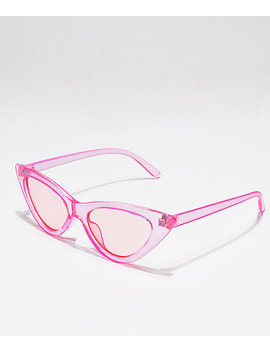 Transparent Pink Cat Eye Sunglasses by I Sea