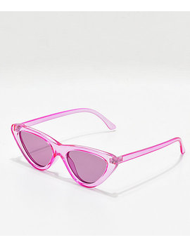 Zoe Purple Tinted Cat Eye Sunglasses by I Sea