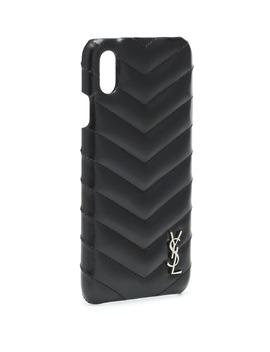 Leather I Phone X Case by Saint Laurent