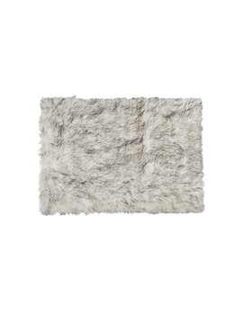 Luxe Hudson Gradient Grey Faux Sheepskin Throw Rug ( 5' X 8')   5' X 8' by Generic
