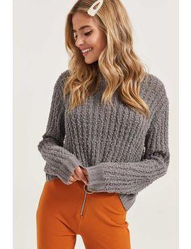 Fuzzy Knit Sweater by Ardene