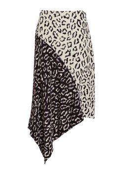 Natalie Two Tone Leopard Skirt by A.L.C.