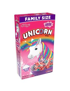 Kellogg's Unicorn Cereal Breakfast Cereal Family Size 18.7 Oz by Kellogg