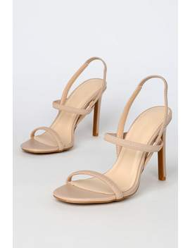 Babie Nude Strappy High Heel Sandals by Lulu's