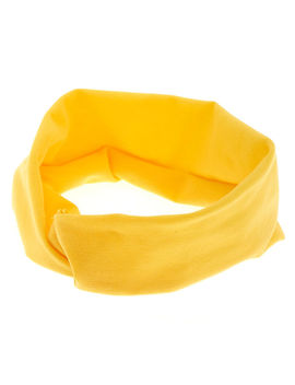 Wide Jersey Twisted Headwrap   Yellow by Claire's