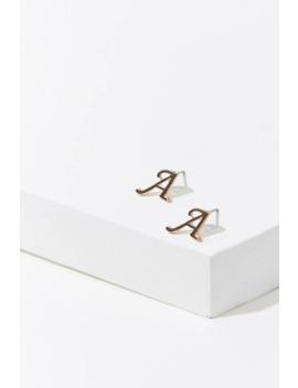 Monogram Stud Earrings by Forever 21