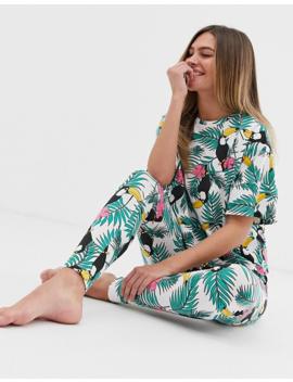 Asos Design – Pyjamas Med Leggings Med Palm  Och Tukanmönster by Asos Design