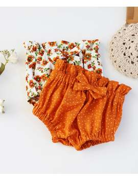 Little Girls Fall Bloomers, Girls Burnt Orange Bloomers, Fall Floral Bloomers, First Birthday, Baby Shower Gift, Bloomers, Birthday Party by Etsy