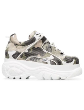 Camo Print Platform Sneakers by Buffalo