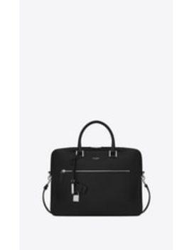 Sac De Jour Briefcase In Grained Leather by Saint Laurent