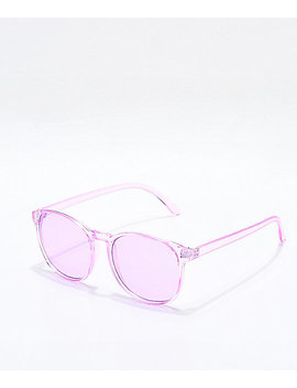 Urban Pink Transparent Sunglasses by I Sea