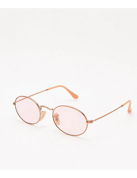 Ray Ban Orb3547 N Evolve Light Pink Sunglasses by Ray Ban