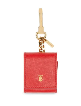Grainy Leather Earphone Case by Burberry