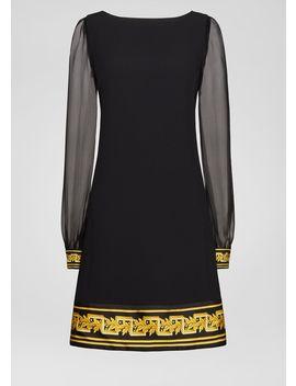 Barocco Border Envers Satin Dress by Versace