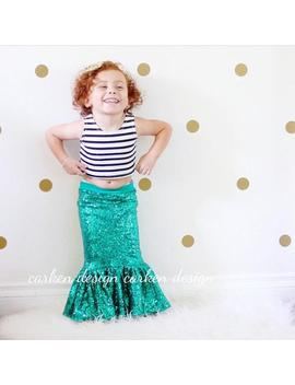 Mermaid Party, Mermaid Skirt, Toddler Mermaid Costume, Mermaid Costume, Halloween Costume, Mermaid Birthday Outfit, Mermaid Costume Girls by Etsy