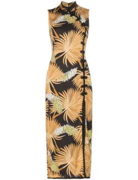 Jean Palm Print Dress by De La Vali