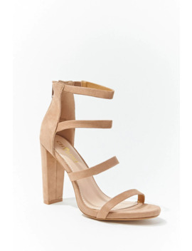 Suede Strappy Heels by Forever 21