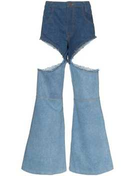 Cut Out Boot Cut Jeans by Telfar