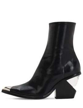 100 Mm Faux Leather Cowboy Boots by Jeffrey Campbell