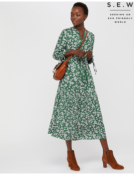 eden-lenzing-ecovero-daisy-print-tiered-dress by monsoon