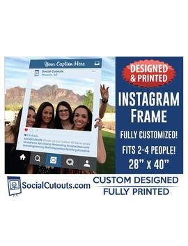 Instagram Frame Printed And Shipped To You. Fully Customized Cutout Photo Booth Prop Instagram Frames For Graduation Party by Etsy
