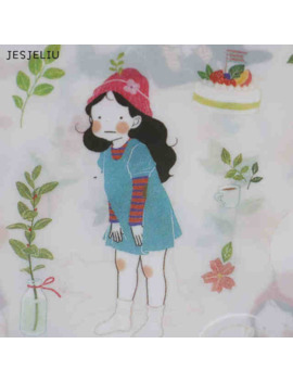 Jesjeliu 6 Pcs Forest Sweet Korean Girl Diary Cartoon Scrapbooking Decorative Pvc Stickers by Ali Express