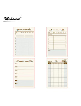 Paper Diary Planner Stickers Sheet To Do List Time Schedule Memo Pad Sticky Note Office School Supplies Korean Stationery by Ali Express