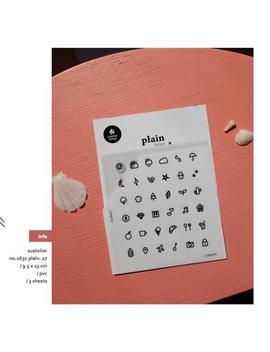 1631  Plain 27, Korean Sticker 3 Sheet Suatelier Kawaii Sticker, Cute Stickers, Scrapbooking Material Planner by Etsy