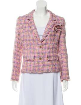 Fringe Trimmed Tweed Blazer by Chanel